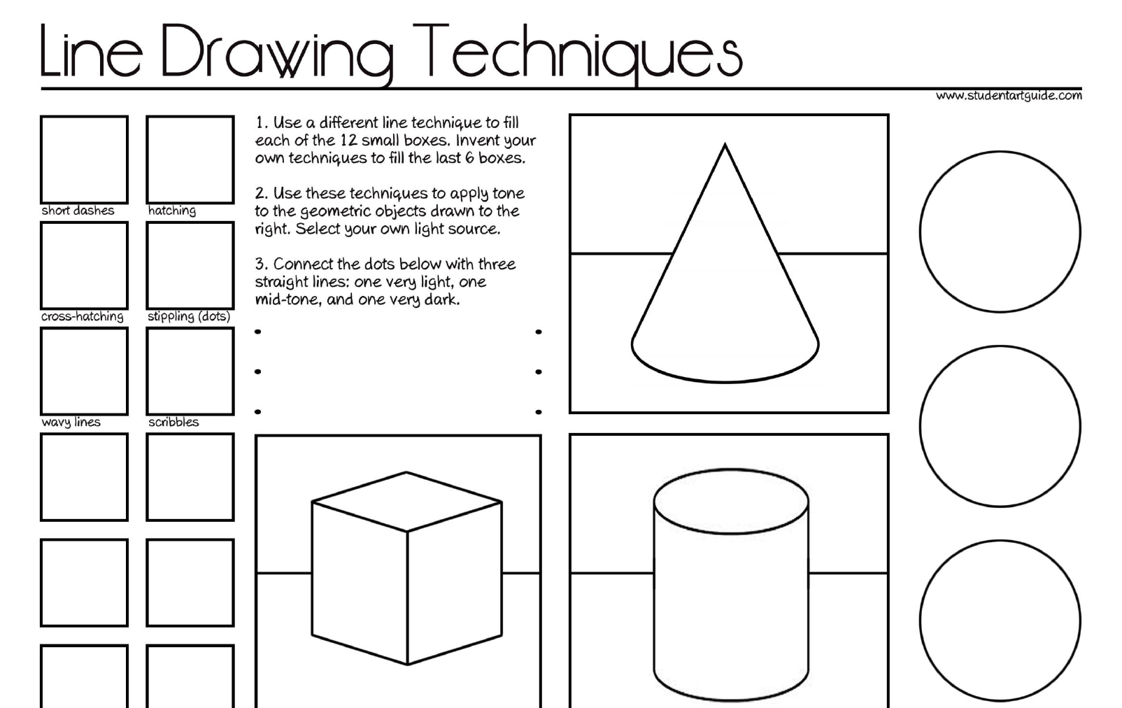 Line Drawing Worksheet : Make up assignments mrs sulzen winnetonka art